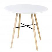 vidaXL fehér kör alakú MDF étkezőasztal