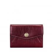 Maxwell-Scott kleine italienische Leder Geldbörse in Weinrot - Fontanelle - Brieftasche, Portemonnaie, Geldbeutel, Kreditkartenetui