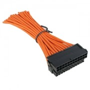 Cablu prelungitor BitFenix Alchemy 24 pini ATX, orange/black, BFA-MSC-24ATX30OK-RP