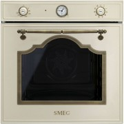 SMEG SF750PO beépíthető rusztikus sütő - bézs / bronz
