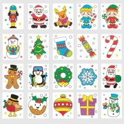 Christmas Tattoos (Pack of 48)