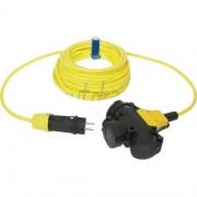 Verlengsnoer PUR kabel 3x2,5mm² 3-voudig 10M geel