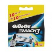 Gillette Mach3 rezerve aparat de ras 4 buc pentru bărbați