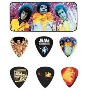 Dunlop JHPT01M Jimi Hendrix Are You Experienced Pick Tin Assorted Medium 12 Picks/Tin