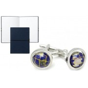Set Butoni World Traveler si Note Pad Blue Hugo Boss