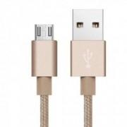 Cablu de date high quality Micro USB pentru Samsung Huawei HTC Allview conector micro USB lungime 3 m Auriu BBL784