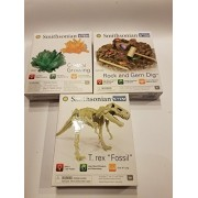 Smithsonian Smithsonian Science Stem 3 kits T-Rex fossil Crystal growing kit and Gemstone kit