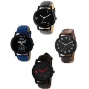 R P S fashion new cocktale model to top combo pack of 4 men watch