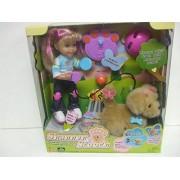 Mattel Shannen & Scooch Doll and Remote Control RC Golden Retriever Puppy
