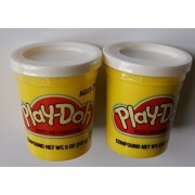 Play-doh White - Set of Two Single Cans (5 Oz.)