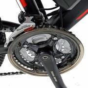 Bicicleta electrica MTB Carpat C1001E 26 cadru aluminiu frane mecanice disc 21 viteze culoare negrurosu