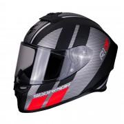 Scorpion Casco Moto Integrale Exo-R1 Air Corpus Matt Black Silver Red