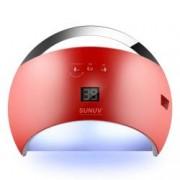 Lampa Unghii LED Unghii SunUv 21 Leduri SUN6 48W Dual UV LedProfesionala 30s60s90s Timer LCD Display Red Perfect