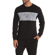 JASON SCOTT Distressed Crew Neck Sweatshirt BLACK