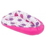 Mamo Tato Oboustranné hnízdečko - kokon pro miminko - růžový/louka růžová