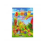 Carte de colorat cu alfabet, cifre, fructe, legume, culori si abtibilduri, A4 80 pagini Eurobookids vol. 2