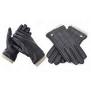 Men's Gallery Seven Fashion Winter Gloves Mens - Lined - Touchscreen Small Black-Style 2 Copper Fur