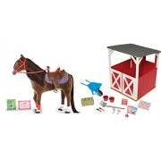 My Life As Horse Red Stable & Accessories 15 Piece Set by myLife Brand Products