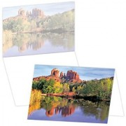 ECOeverywhere Grand Reflection Boxed Card Set 12 Cards and Envelopes 4 x 6 Inches Multicolored (bc12301)