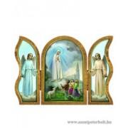 Luerdi Mária aranyozott szárnyas faplakett