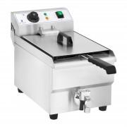 Elektrická fritéza - 10 litrů s vypouštěcím kohoutem