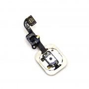 Pièces Détachées Nappe Flex Câble + Bouton Home Noir Pour Iphone 6 / Iphone 6 Plus
