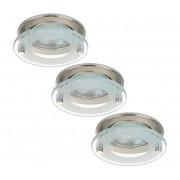 Briloner 7203-032 - SET 3x Lampă încastrată LED ATTACH 3xGU10/4W/230V
