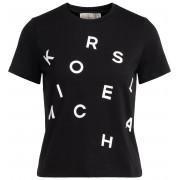 Michael Kors T-shirt Michael Kors in cotone nero con logo frontale