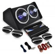 """Auna 4.1 HiFi комплект за кола """"Black Line 500"""", усилвател, високоговорител (PL-4.1-BL-500)"""