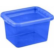 Cutie depozitare cu capac 8 litri albastru inchis
