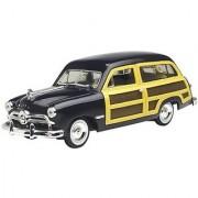 1949 Ford Woody Wagon Black 1:24 Diecast Car Model