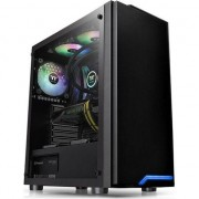 Carcasa Thermaltake H100 Tempered Glass, Middle Tower, fara sursa, ATX, neagra