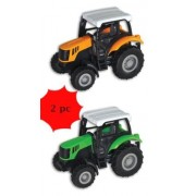 Pull Back Friction Die Cast Farm Tractors - 2 Pc Tractor - (2 Pc)