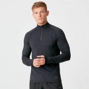 Myprotein Koszulka termiczna Boost z suwakiem 1/4 dla mężczyzn - L - Czarny