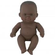 Papusa vinil fetita africana Miniland, 21 cm