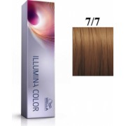 Wella Professionals Vopsea permanenta Wella Professionals Illumina Color 7/7 Blond Mediu Maro 60ml
