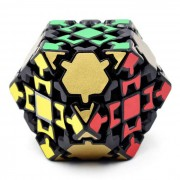 4cm Engranaje Rompecabezas Magic IQ cubo juguetes educativos - Negro + Oro + Multi-Color