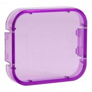 Funda de buceo profesional cubierta de filtro para gopro hero 5 - violeta