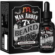 Man Arden 7X Beard Oil 30ml (Sandalwood) - 7 Premium Oils Blend For Beard Growth Nourishment