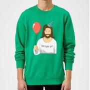 The Christmas Collection Sudadera Navidad Cumpleaños Jesús - Hombre - Verde - M - Kelly Green