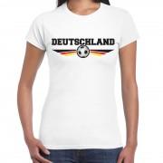 Bellatio Decorations Duitsland / Deutschland landen / voetbal t-shirt wit dames S - Feestshirts
