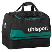 uhlsport Sporttasche BASIC LINE 2.0 - mit Bodenfach - schwarz/lagune |