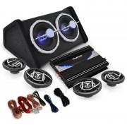 """Auna 4.1 HiFi комплект за кола """"Black Line 520"""" усилвател високоговорител субуфер (PL-4.1-BL-520)"""