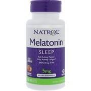 vitanatural melatonine 5mg - snelle los - 250 tabletten - aardbeiensmaak