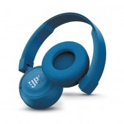 JBL T450 BT - безжични Bluetooth слушалки с микрофон за мобилни устройства (син)