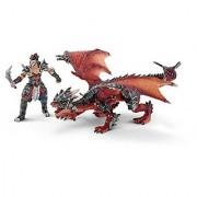 Schleich North America Warrior with Dragon Figure
