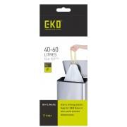 Комплект от 12 бр. торби за смет EKO с връзки - размер F (40-60 литра)