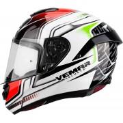 Vemar Hurricane Racing Casco Blanco/Verde/Rojo L (59/60)