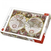 Puzzle 2000 elementów Mapa Ziemi + EKSPRESOWA DOSTAWA W 24H