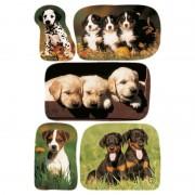 Merkloos 45x Honden/puppy dieren stickers